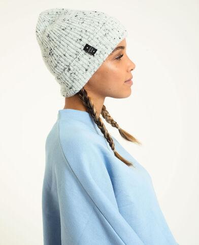 Bonnet avec revers gris