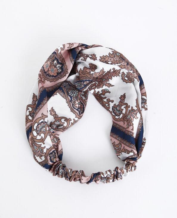 Headband satiné rose poudré