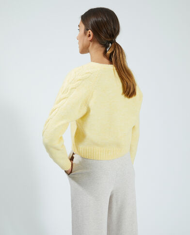Gilet tout doux jaune - Pimkie