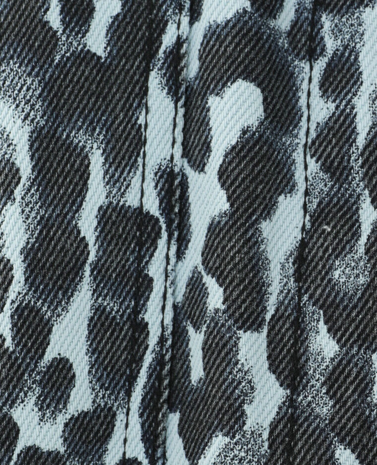 Surchemise en jean léopard bleu - Pimkie