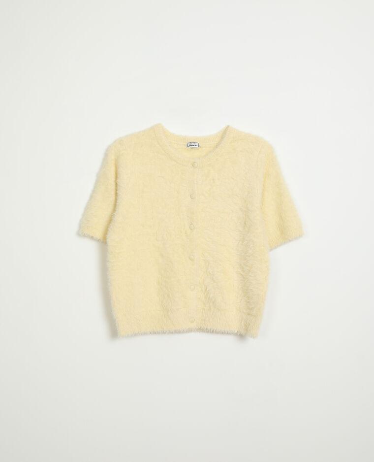 Gilet manches courtes jaune pâle - Pimkie
