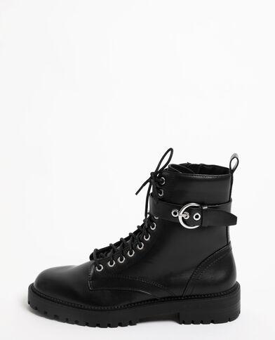 Boots à lacets noir - Pimkie