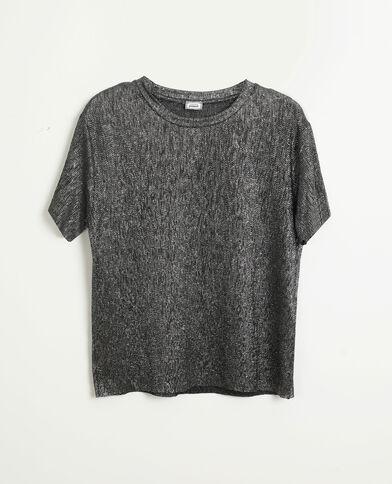 Top pailleté gris