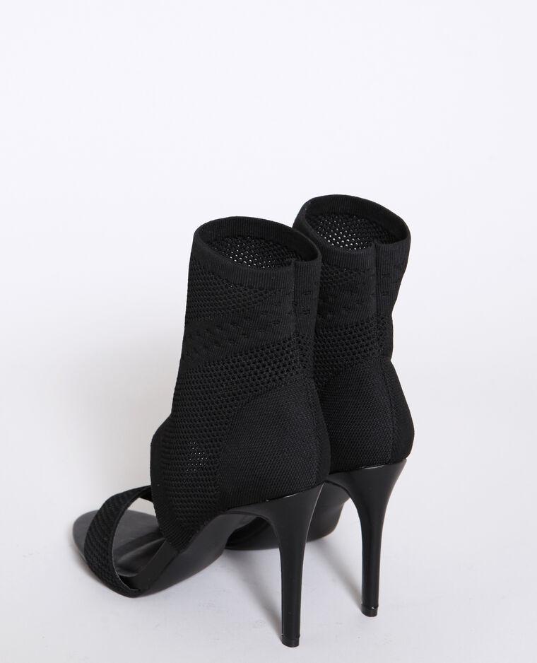 Sandales à talons aiguilles noir