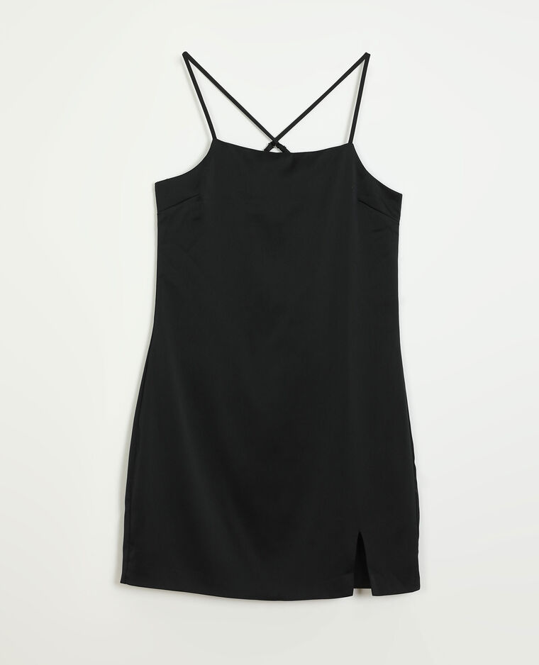 Robe satinée noir - Pimkie