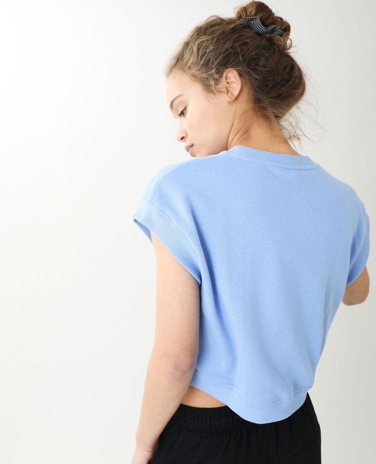 Top sans manches molleton bleu clair - Pimkie