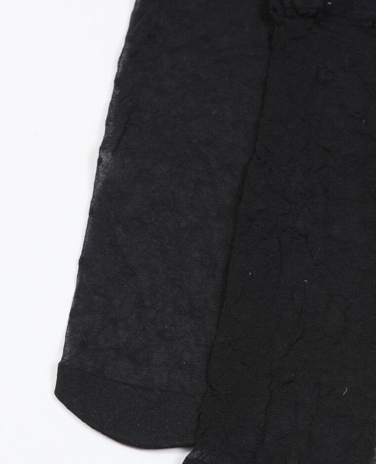 Chaussettes plumetis noir