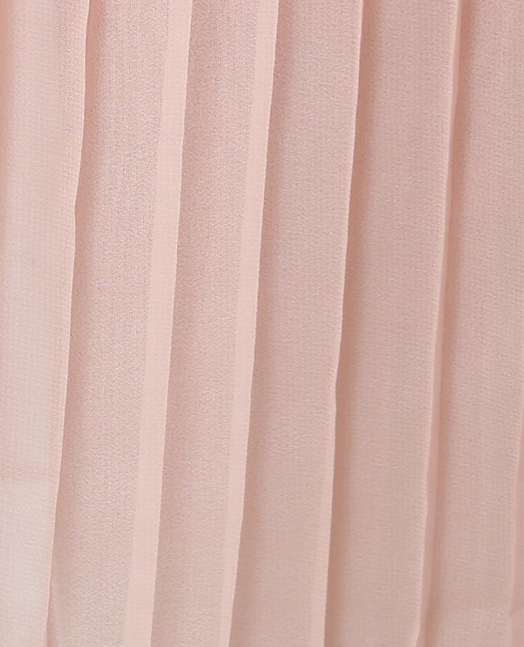 Jupe midi plissée rose