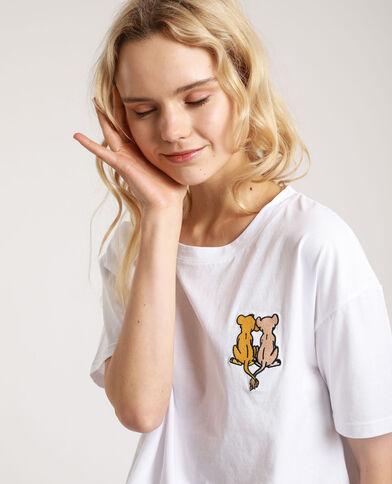 T-shirt Le Roi Lion blanc