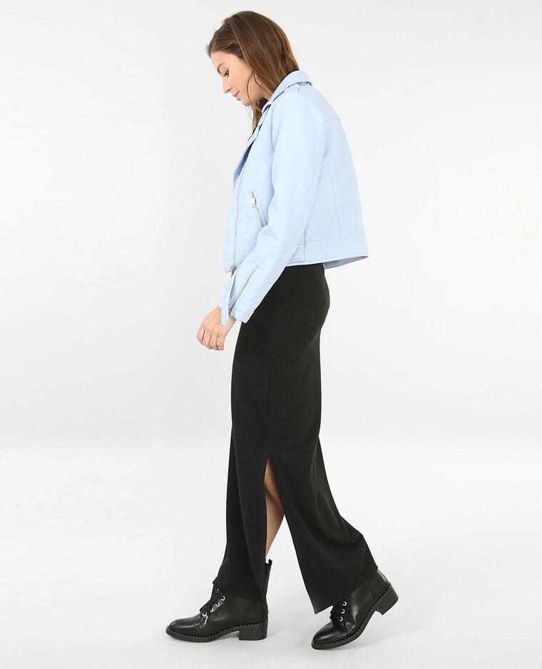 Jupe longue fendue noir