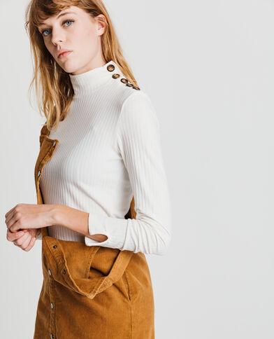 T-shirt boutonné blanc cassé - Pimkie
