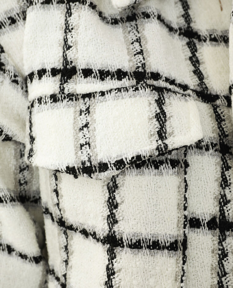 Veste en tweed oversize blanc - Pimkie