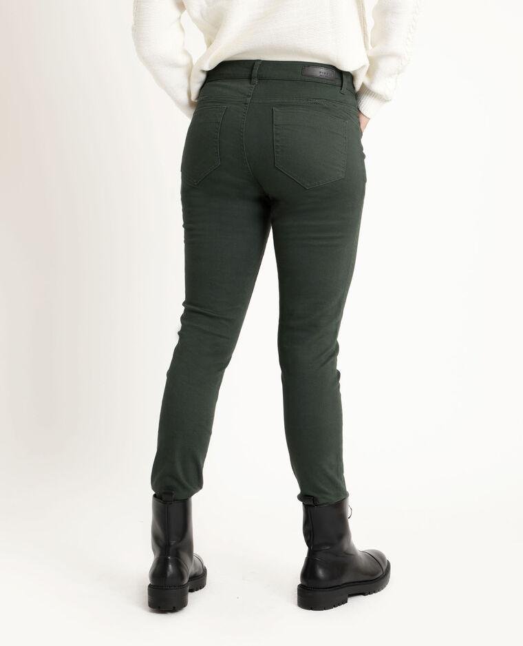 Skinny push up mid waist vert sapin