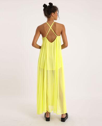 Robe longue et légère jaune fluo