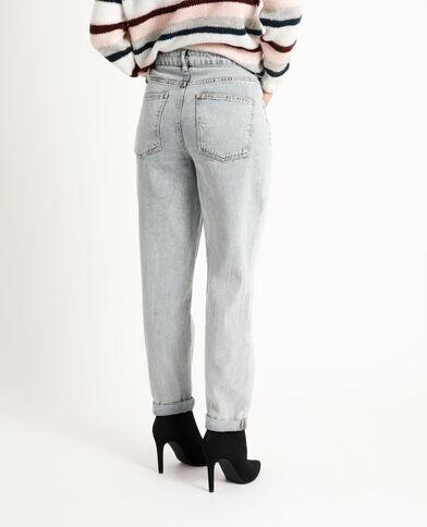 Jean straight mid waist bleu délavé