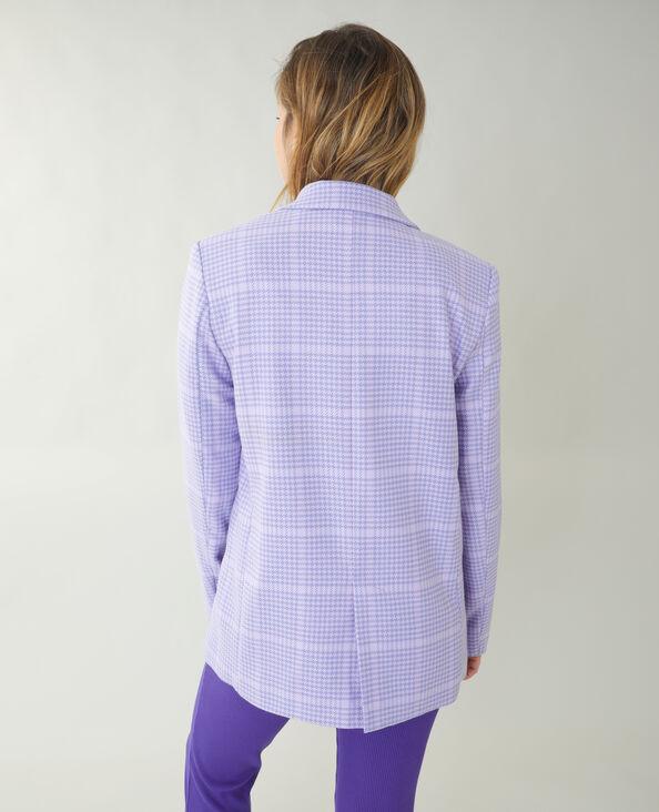 Veste city pied-de-poule violet