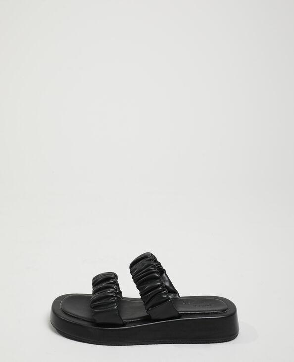 Mules plissées noir - Pimkie