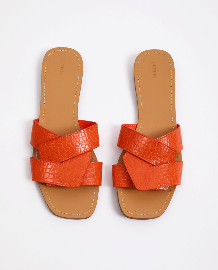 Sandales plates rose