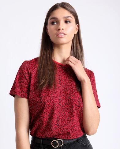 bb801c965aa T-shirt à imprimé rouge