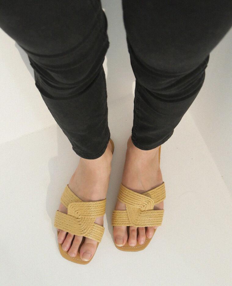 Sandales plates beige ficelle - Pimkie