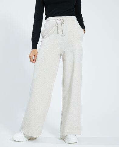 Pantalon large molleton beige - Pimkie