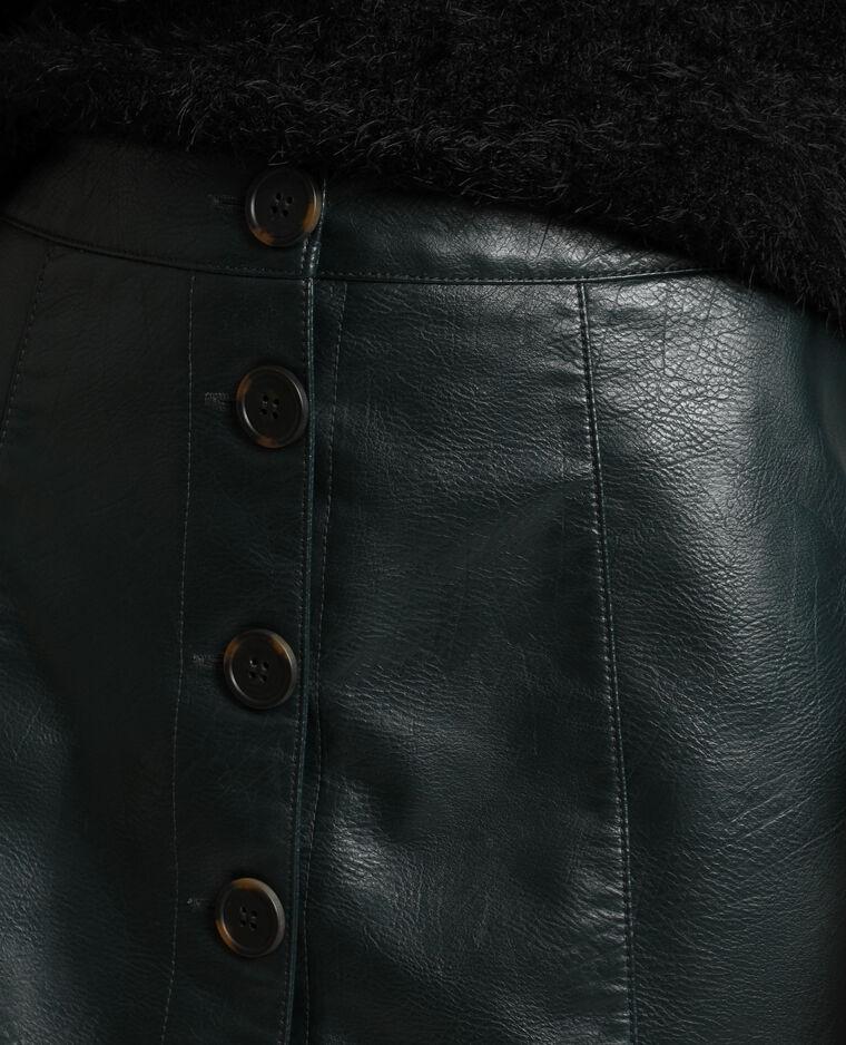 Jupe en simili cuir vert - Pimkie