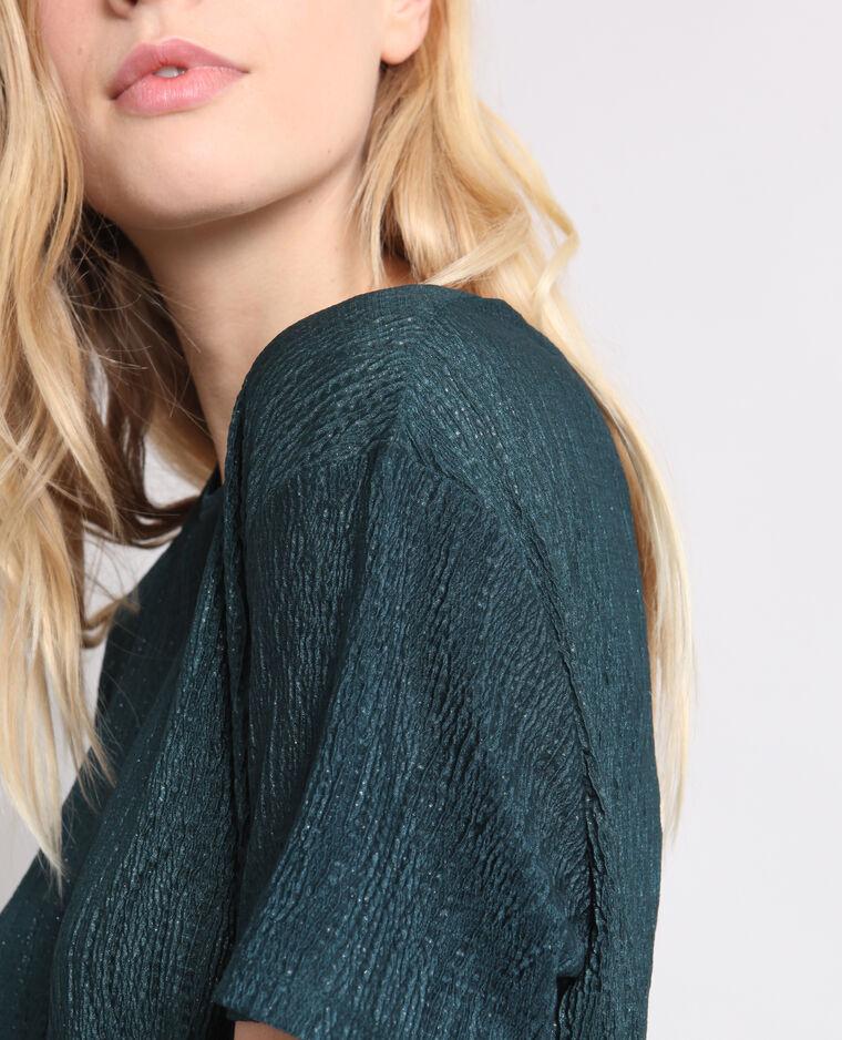 T-shirt texturé vert