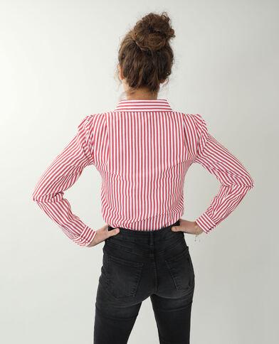 Chemise à épaulettes rouge