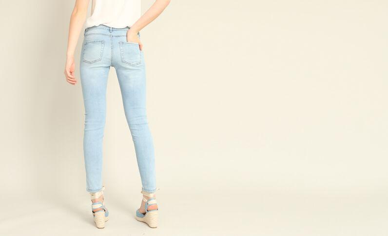 Jean skinny mid waist bleu clair