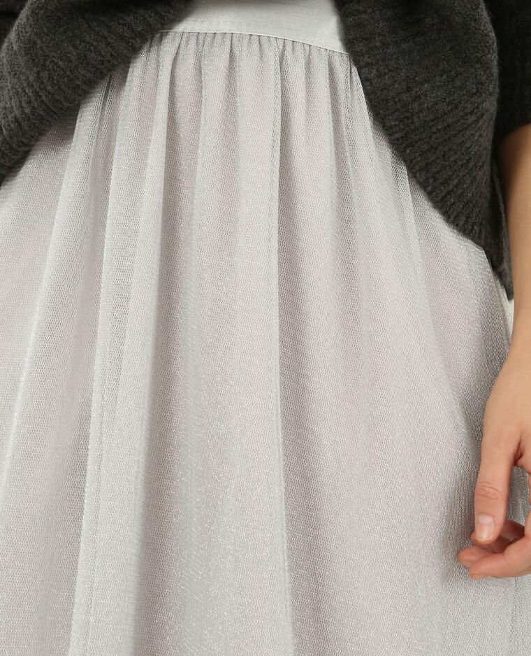 Jupe danseuse en tulle gris argenté - Pimkie