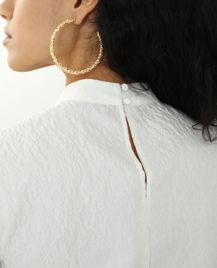 Blouse texturée blanc cassé - Pimkie