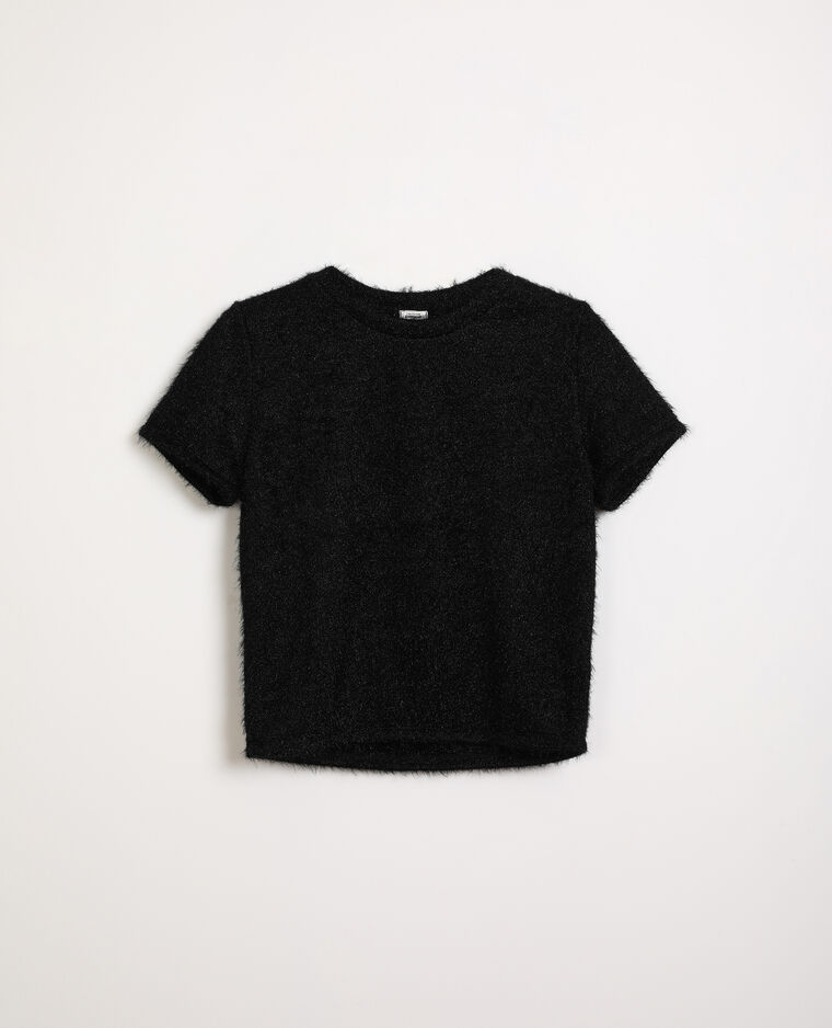 Pull manches courtes noir