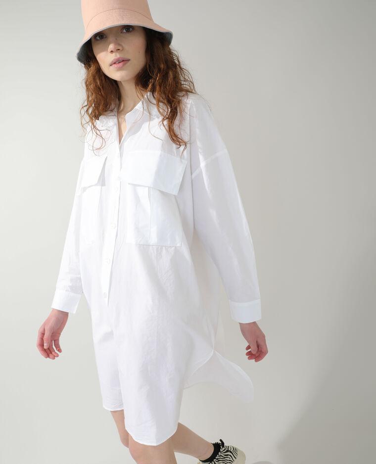 Robe chemise oversize blanc - Pimkie