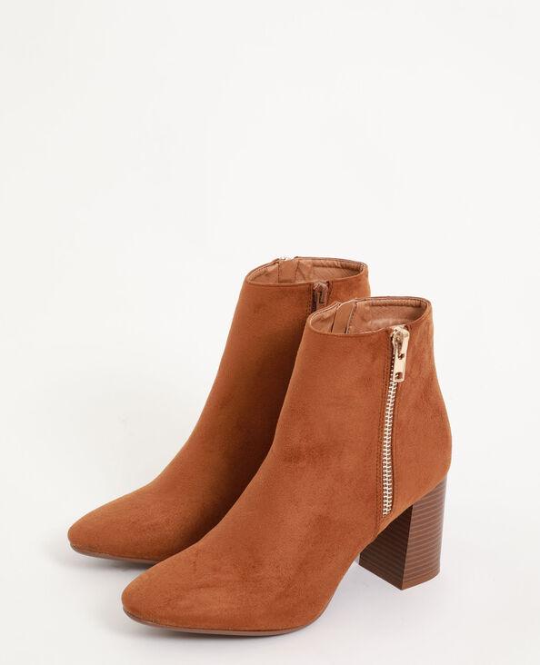 Boots à talon marron