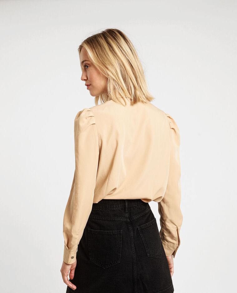 Chemise à poches beige