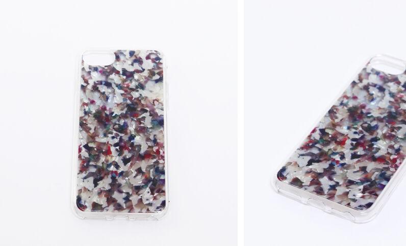 Coque multicolore compatible iPhone bleu marine