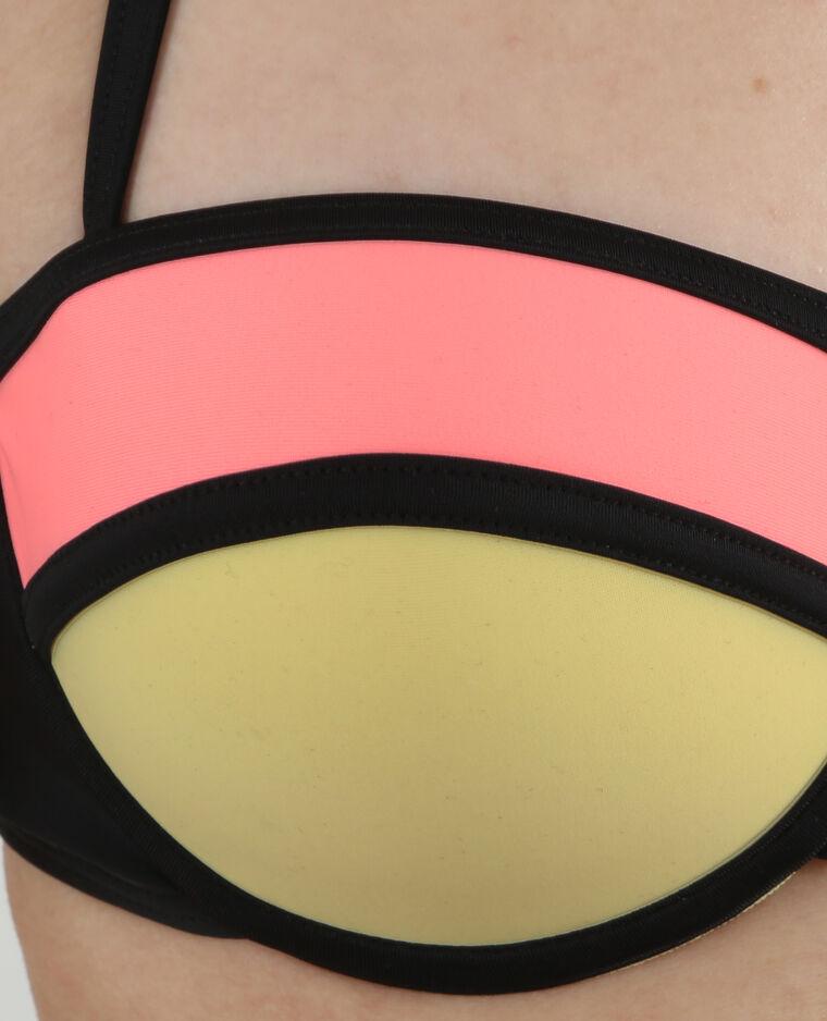 Haut de maillot de bain effet néoprène rose
