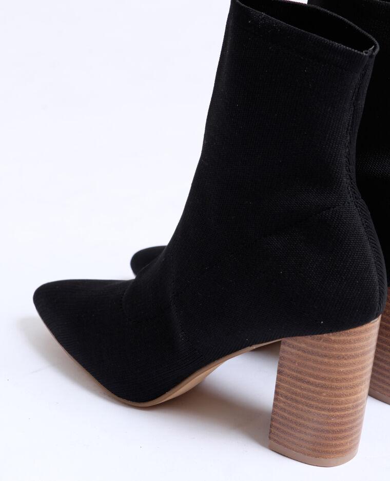 Bottines chaussettes noir