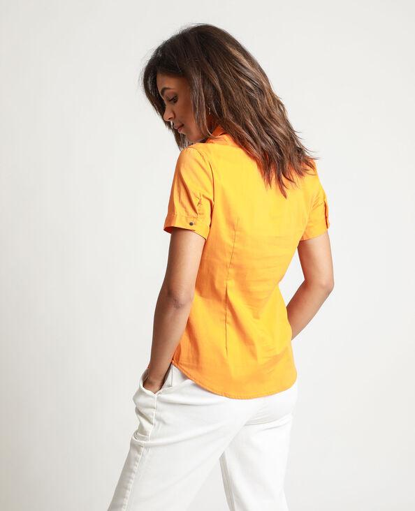 Chemisier à manches courtes orange