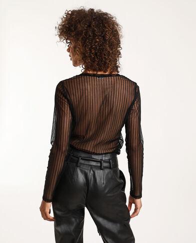 T-shirt transparent noir