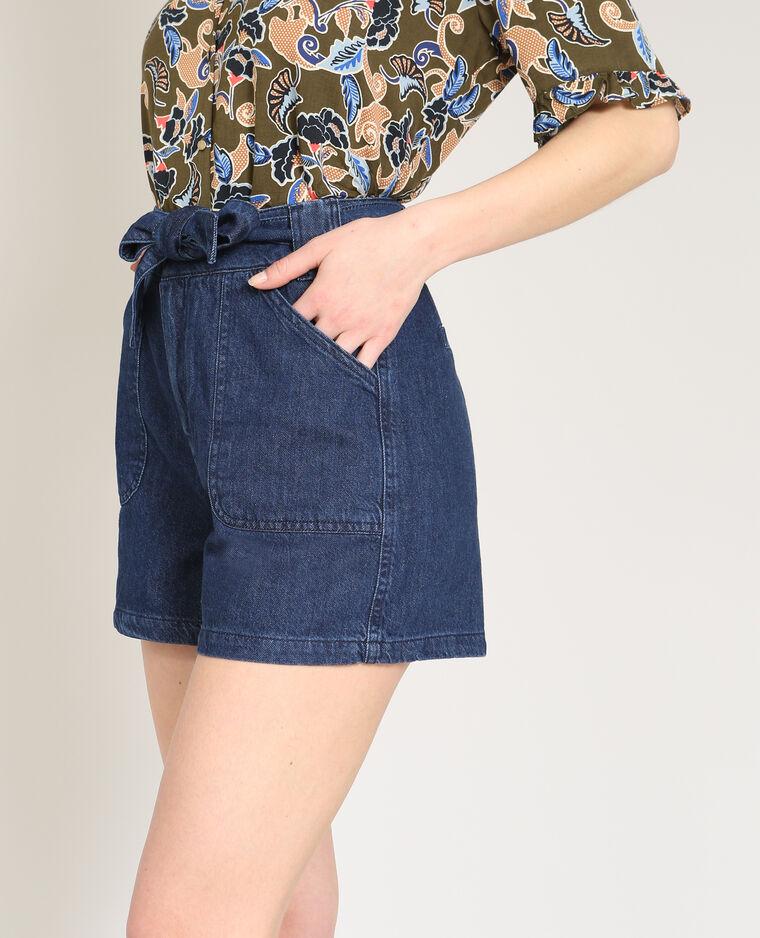 Short taille haute bleu foncé - Pimkie