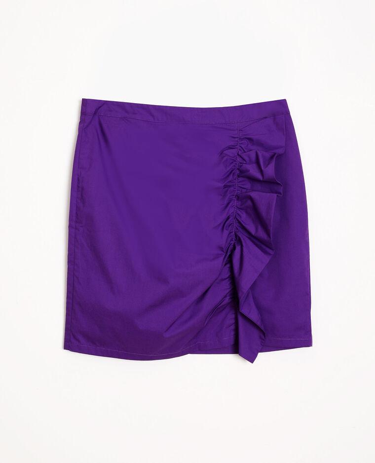 Jupe à volants violet