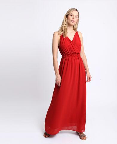508d54ceb1c8 Robe longue empire rouge