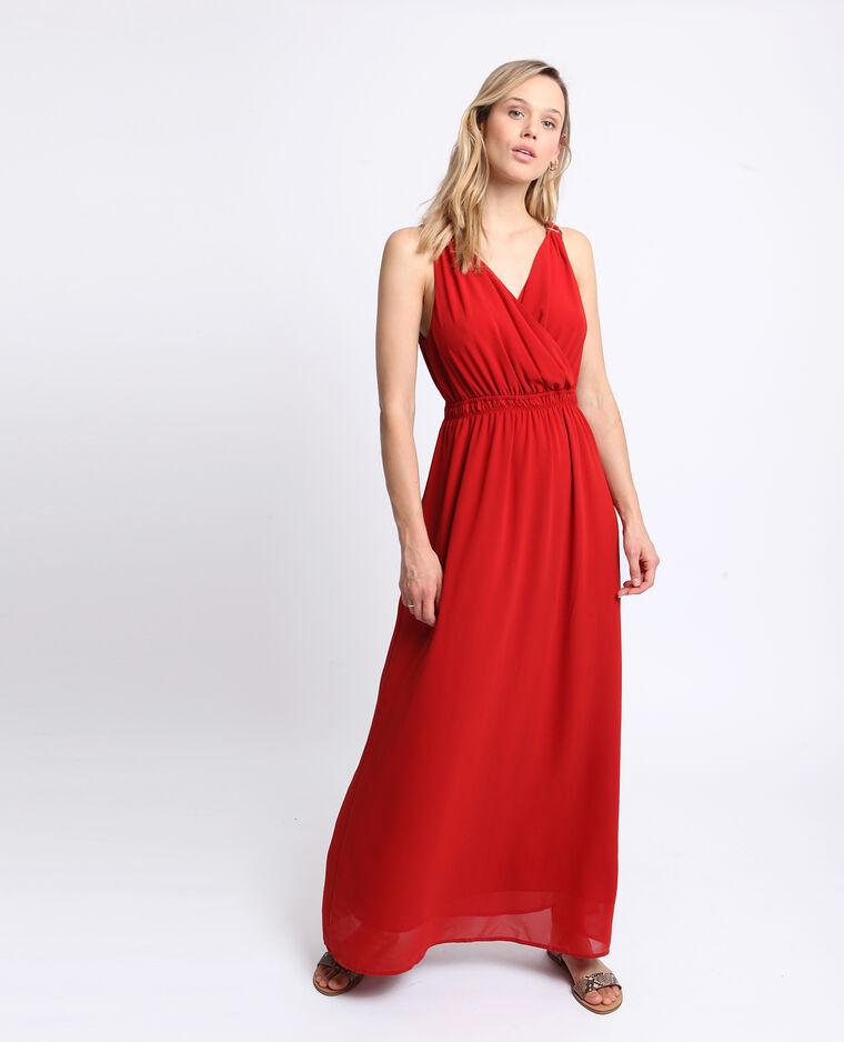 Robe longue empire rouge