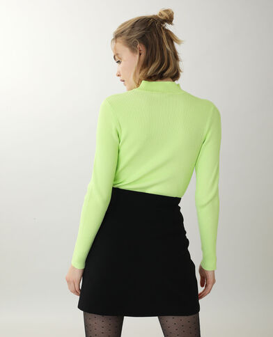 Pull ouvert Jaune fluo - Pimkie