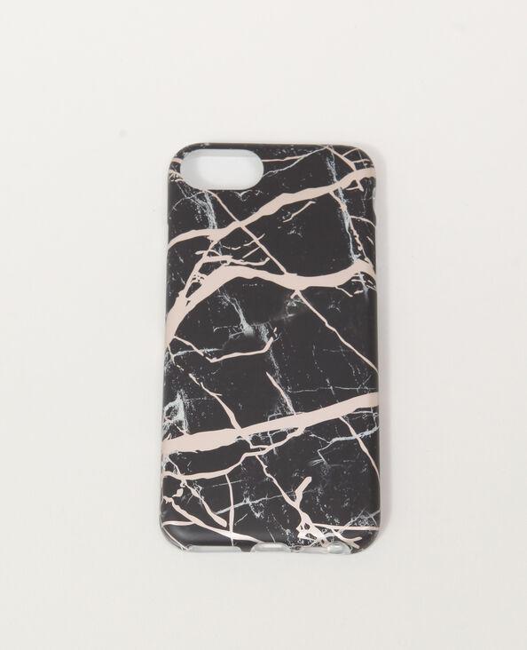 Coque smartphone marbrée noir