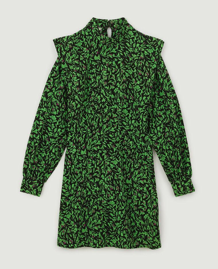 Robe courte imprimée vert - Pimkie