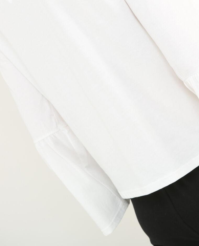 T-shirt  manches pagodes blanc cassé - Pimkie