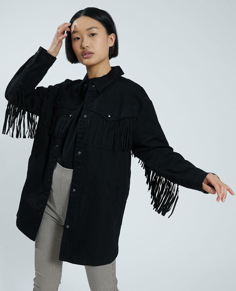 Veste à franges noir - Pimkie