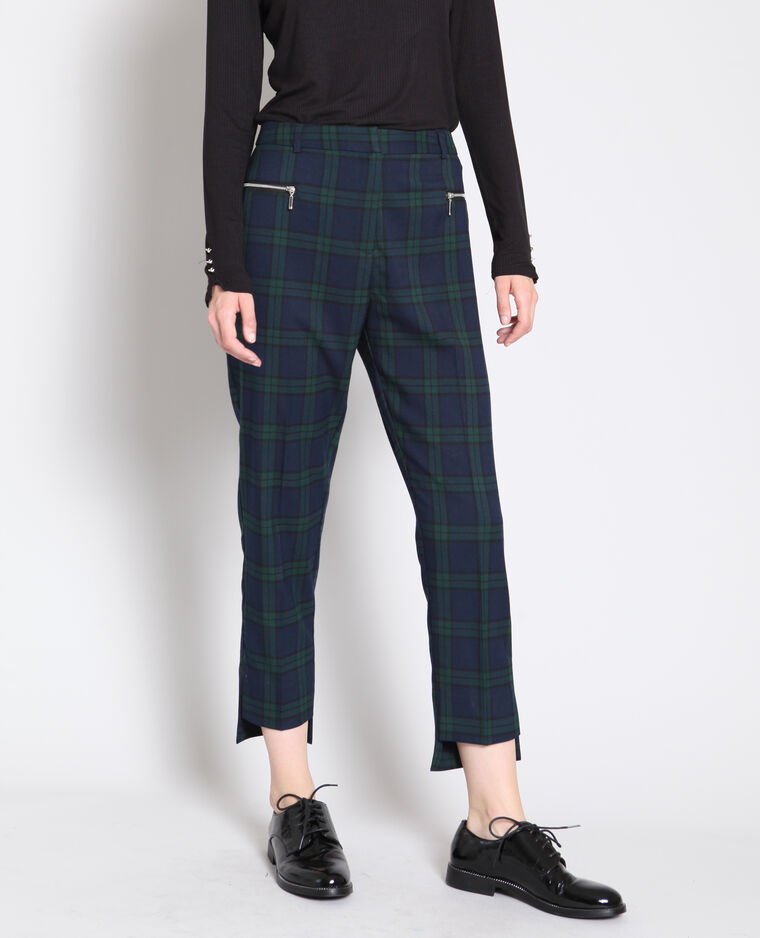 Pantalon à carreaux noir